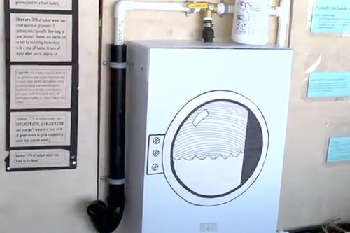 Water Use Quick Tip: Simple Greywater System