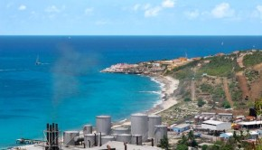 Desalination plant on the Caribbean island of St. Martin