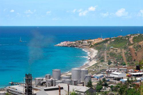 Desalination plant on the Caribbean island of St. Martin