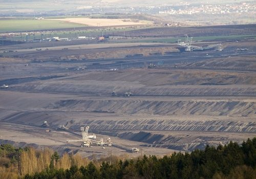 Strip mine in Czech Republic
