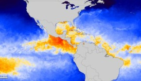 NASA Sea Surface Temperature Map 2012
