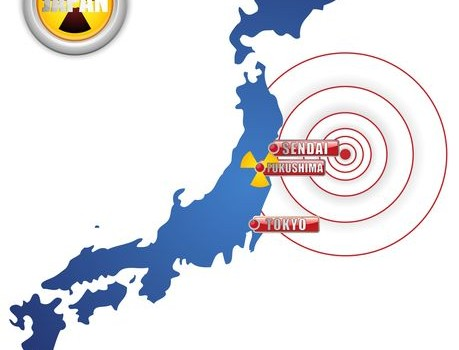Map of Japan Fukushima Earthquake Tsunami