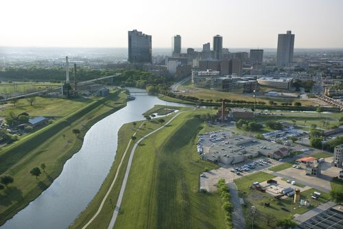 Fort Worth, Texas and the Trinity River