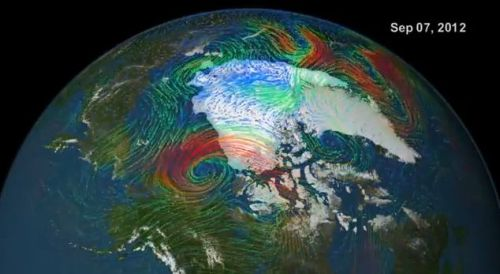 Cyclone over the Arctic Ocean