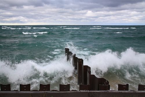 Storm on Lake Michigan