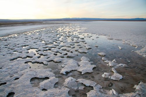 Salt Plain in Chile